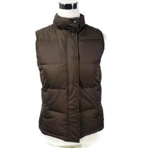 Gap Womens Size XS Down Filled Puffer Vest Brown